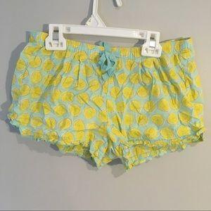 Gap lemon pajama shorts